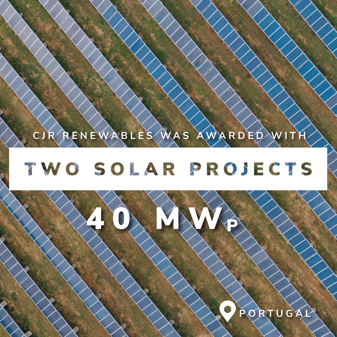 CJR Renewables was awarded with two more solar projects in Portugal totalling 40 MWp 0