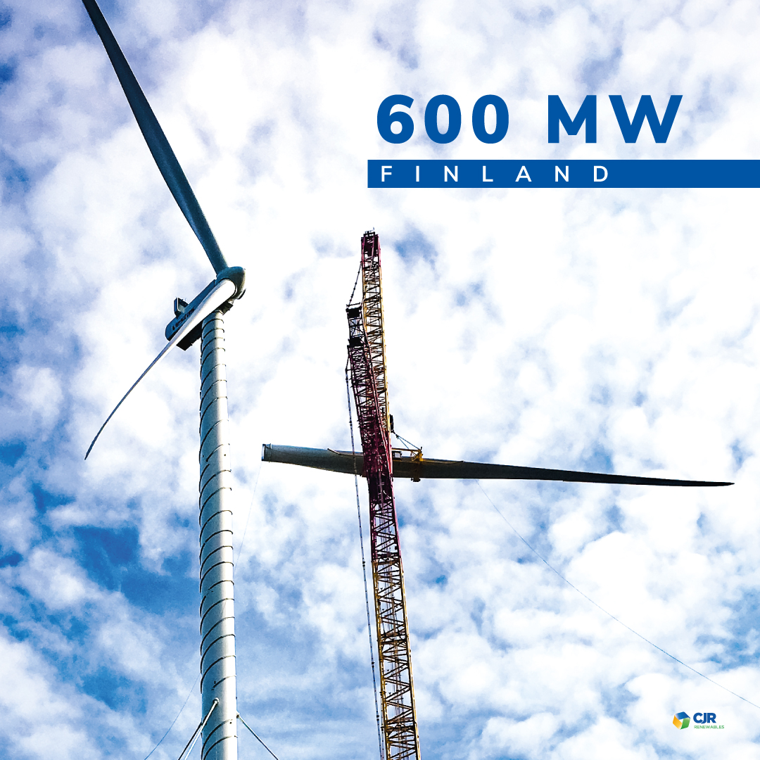 CJR Renewables is going to overtake the 600 MW in wind installation in Finland 0
